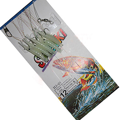 Fiske-1 stk-Selvlysende Silikon Karbonstål-Søfisking Agn Kasting Isfikeri Ferskvannsfiskere Generelt fisking