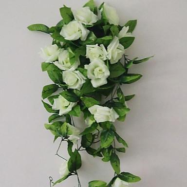 1 Afdeling Polyester Plastik Roser Vægblomst Kunstige blomster