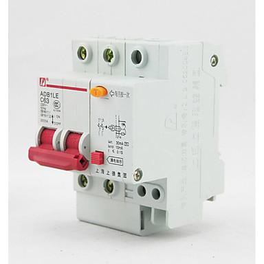 disjuntor de fuga 2p disjuntor em miniatura para interruptor do ar DZ47LE superior Alemanha