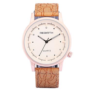 REBIRTH Hombre Reloj de Moda / Reloj de Pulsera / PU Banda Casual Naranja / Marrón / Color Beige