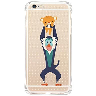 Capinha Para Apple iPhone X iPhone 8 iPhone 6 iPhone 6 Plus Anti-poeira Antichoque Transparente Capa traseira Animal Macia TPU para