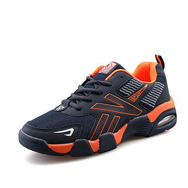 Herrn Schuhe Tüll Frühling Herbst Sneakers für Sportlich Normal Schwarz Orange Grün