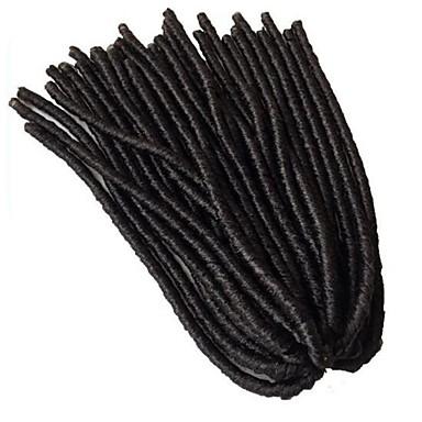 Dread Locks Havanna Faux Dreads Gehaakte faux dreads Dreadlock Extensions Kanekalon Pik zwart Haarextensions 45cm haar Vlechten