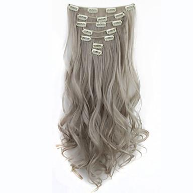Mit Clip Synthetik Haarverlängerungen 130 18