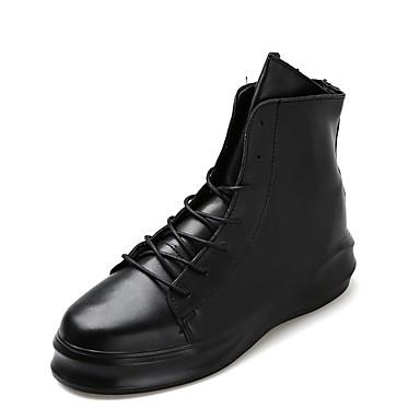 Støvler-PUHerre-Sort Hvid Sort og Hvid-Udendørs-Flad hæl