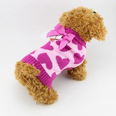 Katte / Hunde Kostume / Frakker / Bluser Rose Hundetøj Vinter HjerterCosplay / Fødselsdag / Ferie / Mode / Casual/hverdag / Hold Varm /