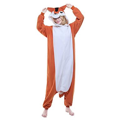 Aikuisten Kigurumi-pyjama Hiiri / Maaorava Pyjamahaalarit Asu Polar Fleece Oranssi Cosplay varten Animal Sleepwear Sarjakuva Halloween Festivaali / loma / Joulu
