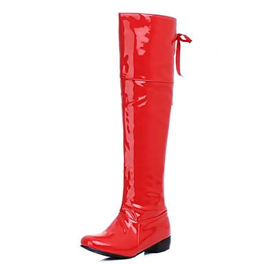 Feminino Sapatos Courino Primavera Outono Inverno Sapatos clube Tênis com LED Botas Caminhada Salto Grosso Salto de bloco Para Casual