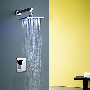 Brusehaner Badekarshaner Håndvasken vandhane - Moderne Krom Vægmonteret Keramik Ventil