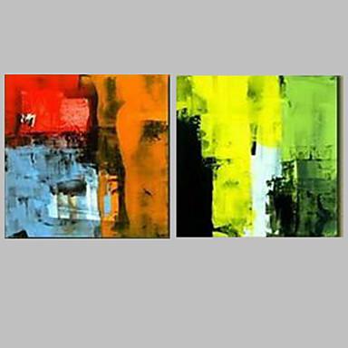 Hang malte oljemaleri Håndmalte - Abstrakt Moderne / Middelhavet Lerret