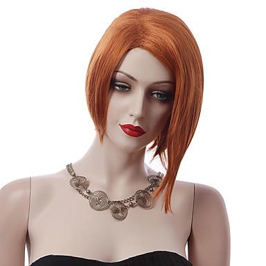Naisten Synteettiset peruukit Koneella valmistettu Lyhyt Suora Ruskea musta Wig puku Peruukit
