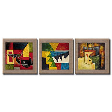 Handgeschilderde Abstract Fantasie Vierkant, Modern Traditioneel Realisme Mediterraans Kangas Hang-geschilderd olieverfschilderij