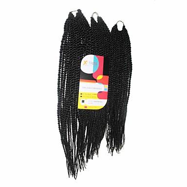 Fletning af hår Senegal Drejede Fletninger / Hårforlængelse af menneskehår 100% kanekalon hår Hårfletninger Daglig
