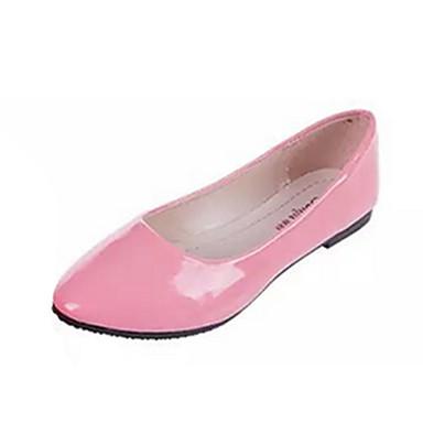 Damen Schuhe PU Sommer Komfort Flache Schuhe Flacher Absatz Rot / Blau / Rosa