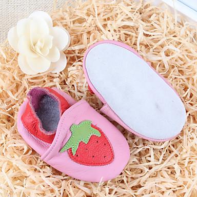 Bebê Para Meninas sapatos Couro Outono Inverno Conforto Mocassins e Slip-Ons para Casual Rosa claro