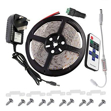 KWB licht strip kit 3528 300 leds IP65 3a voeding 11key ir remote contro de linker artikel lamp vaste accessoires