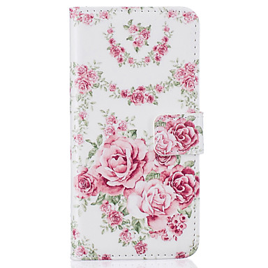 Hülle Für Apple iPhone 7 Plus iPhone 7 Kreditkartenfächer Geldbeutel mit Halterung Flipbare Hülle Muster Ganzkörper-Gehäuse Blume Hart