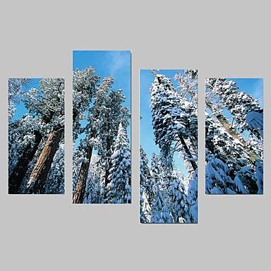 Landschaft / Botanisch Leinwand drucken Vier Panele Fertig zum Aufhängen,jede Form