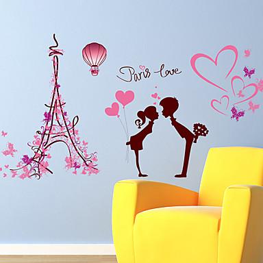 Botanisk / Romantik / Still Life Wall Stickers Fly vægklistermærker / 3D mur klistermærker Dekorative Mur Klistermærker,PVC MaterialeKan