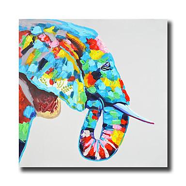 Handgeschilderde Abstract / Dieren / Cartoon Olie schilderijen,Modern Eén paneel Canvas Hang-geschilderd olieverfschilderij For