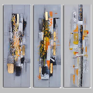 Hang-Ölgemälde Handgemalte - Abstrakt Modern Segeltuch / Gestreckte Leinwand