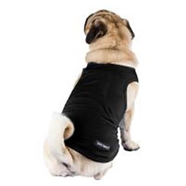 Haustiere Hund Weste Hundekleidung Solide Grau Purpur Rot Rosa Hellblau Baumwolle Kostüm Für Haustiere Herrn Damen Unisex Stilvoll