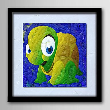 Pintados à mão Abstrato Animais Fantasia Desenho Animado Quadrada, Modern Tela de pintura Pintura a Óleo Decoração para casa 1 Painel