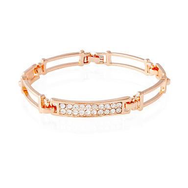Mulheres Pulseiras Algema Fashion Inspirador Europeu Strass Imitações de Diamante Liga Retângular Jóias Diário Casual