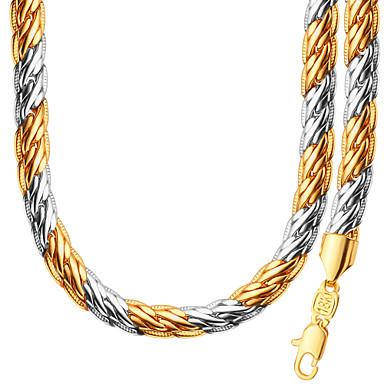 Herrn / Damen Gliederkette Schmuck-Set - Personalisiert, Modisch Einschließen Halskette / Armband Gold Für Hochzeit / Party / Alltag