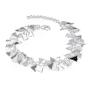 Dames Armbanden met ketting en sluiting Kwasten Europees Sterling zilver Verzilverd Legering Bladvorm Sneeuwvlok Wit Sieraden Voor