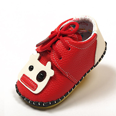 Para Meninas sapatos Microfibra Primavera Outono MaryJane Rasos Caminhada Para Preto Bege Marron Vermelho