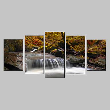 Fotoğraf Benzeri Resim Kanvas Set Kanvas Baskı Manzara Botanik Fotografik Realizm Seyahat Beş Panelli Yatay Duvar Dekor For Ev dekorasyonu
