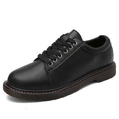 Sneakers-PU-Komfort-Herre-Sort Brun Gul-Fritid-Flad hæl