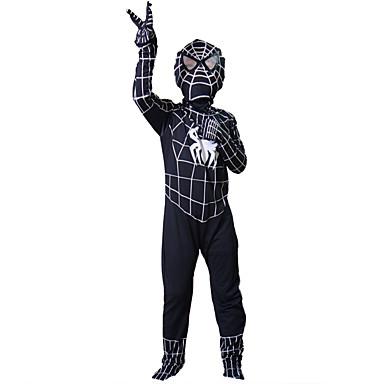 Superhelden Spinnen Spider-Man Zentai-Pakken Cosplay Kostuums Kind Kerstmis Halloween Carnaval Kinderdag Festival / Feestdagen