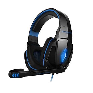 KOTION EACH G4000 Over Ear Headband Wired Headphones Plastic Gaming Earphone Noise-isolating Headset