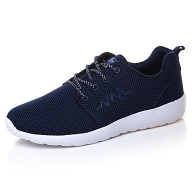 Masculino-Tênis-Conforto-Rasteiro-Preto Azul Cinza-Tule-Para Esporte