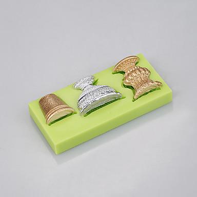 rabat glas form silikone skimmel til fondant kage cupcake chokolade slik dekorationsværktøjer ramdon farve