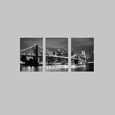 시각 star®black 및 중지 할 준비가 흰색 런던 다리 뻗어 캔버스 인쇄 유명한 현대 벽 예술