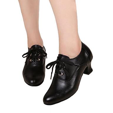 Niet aanpasbaar-Dames-Dance Schoenen(Zwart) - metBlokhak- enLatin / Danssneakers