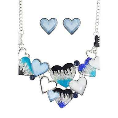 Damen Schmuck-Set Ohrringe Halsketten - Modisch Blau Regenbogen Schmuckset Halskette / Ohrringe Für Alltag Normal Valentinstag