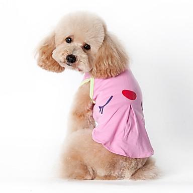Kat Hund Kostume T-shirt Vest Hundetøj Cosplay Ferie Afslappet/Hverdag Mode Sport Amerikansk / USA Grøn Lys pink Kostume For kæledyr