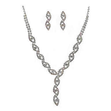 Damen Halskette / Ohrringe Zirkon Aleación Modisch Hochzeit Party Ohrringe Halsketten Modeschmuck
