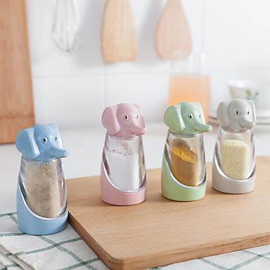 1pç Saleiros, Pimenteiros e Moínhos Plástico Fácil Uso Organização de cozinha