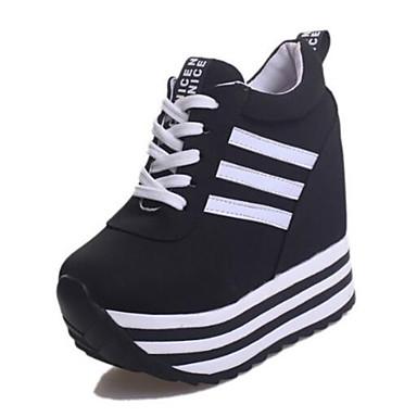 Γυναικεία Πανί Άνοιξη   Φθινόπωρο   Χειμώνας Αθλητικά Παπούτσια Περπάτημα  Πλατφόρμα   Creepers Κορδόνια Λευκό   7e6a88007cd