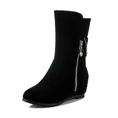 Støvler-Ruskind-Komfort-Dame-Sort-Formelt Fritid-Lav hæl