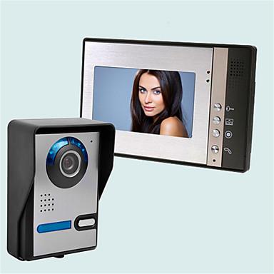 Trådløs Multifamilie Video Ringeklokke 7 tommers Håndholdt 30 pixel Ett til fire mer video dørtelefon