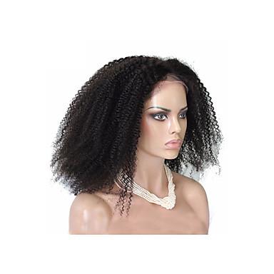 Echt haar Volledig Kant Pruik Kinky Curly Afro 120% Dichtheid 100% handgebonden Afro-Amerikaanse pruik Natuurlijke haarlijn Lang Dames