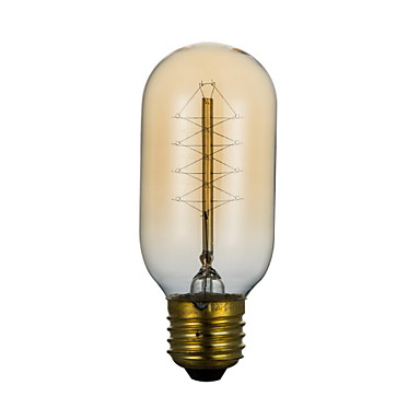 BriLight 1pç 40 W E26 / E26 / E27 / E27 T45 2300 k Incandescente Vintage Edison Light Bulb 220 V / 220-240 V