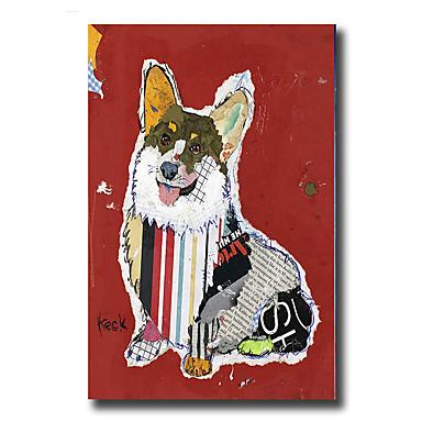 Pintados à mão Abstrato Animais Fantasia Vertical, Modern Estilo Europeu Tela de pintura Pintura a Óleo Decoração para casa 1 Painel