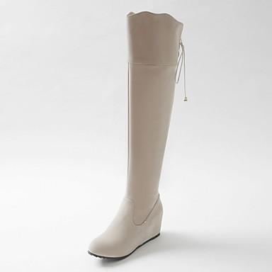 Støvler-Kunstlæder laklæder-Originale Cowboystøvler Snowboots Ridestøvler Modestøvler-Dame-Sort Rosa Beige-Bryllup Udendørs Kontor